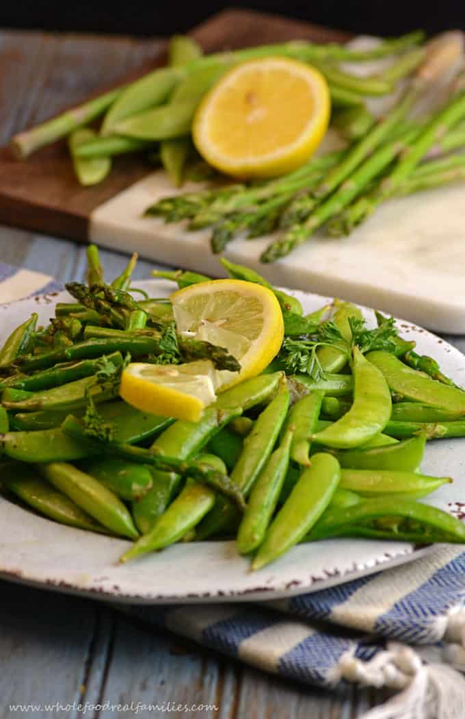 Sauteed Sugar Snap Peas and Asparagus are going to help you love your ...