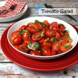 Simple Tomato Salad. A simple side to any meal. A clean eating, whole food recipe. No refined ingredients.