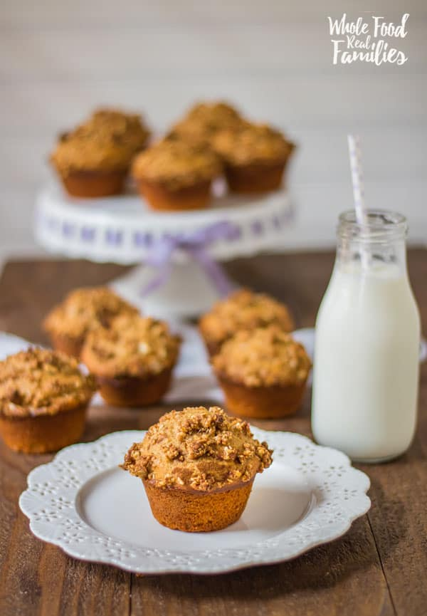 We bake these Sweet Potato Muffins with an Oatmeal Crumble Top anytime there is an extra sweet potato after dinner. They taste AMAZING! My kids love them for breakfast and in their lunchboxes! Make your sweet potatoes in the pressure cooker if you want to save some time!