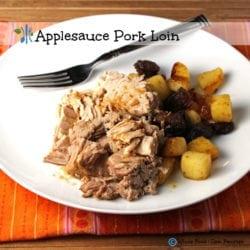 Applesauce Pork Tenderloin. A clean eating, whole food recipe. No processed ingredients.