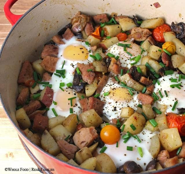 Ham and Egg Hash . A clean eating, whole food recipe. No refined ingredients.