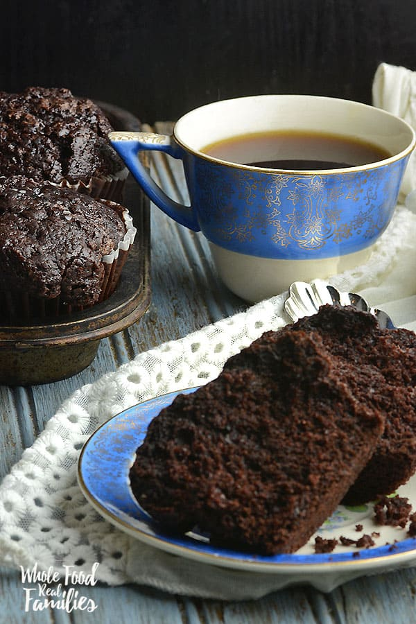 Healthy Chocolate Muffins 600x900