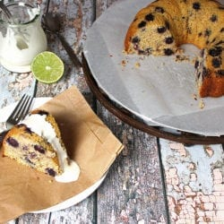 Maple Berry Cornmeal Cake. A clean eating, whole food recipe. No refined ingredients.