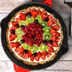 Fresh Fruit Pizza on a Whole Wheat Crust. A clean eating, whole food recipe. No refined ingredients.
