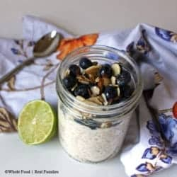 Blueberry Lime Overnight Oats