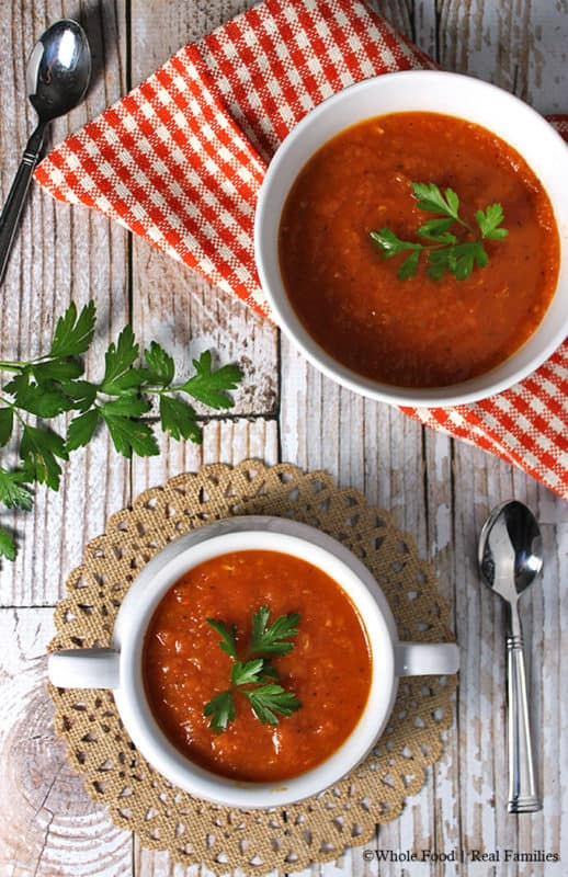 Classic Tomato Soup with fresh tomatoes
