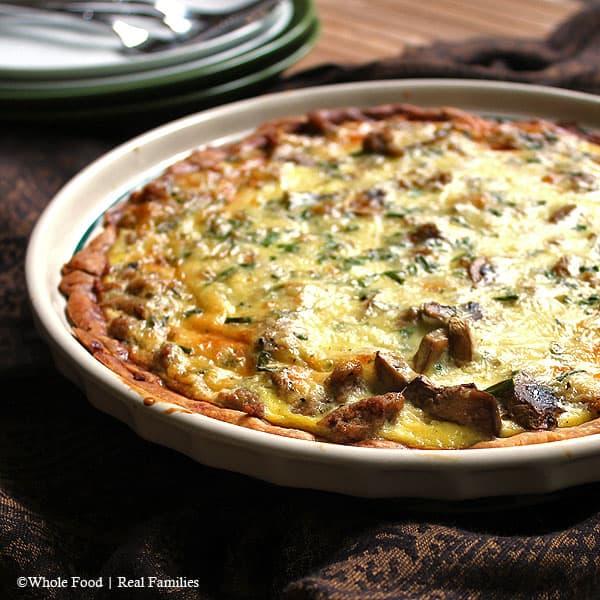 recipe Sausage Mushroom Quiche partial