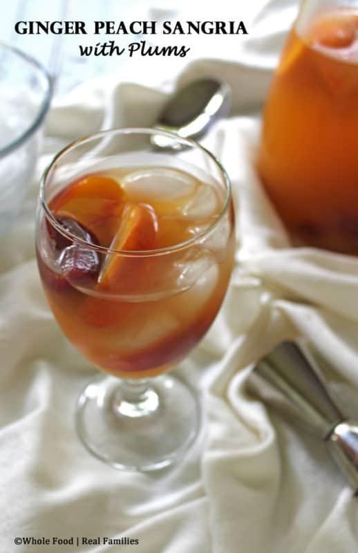 Ginger Peach Sangria