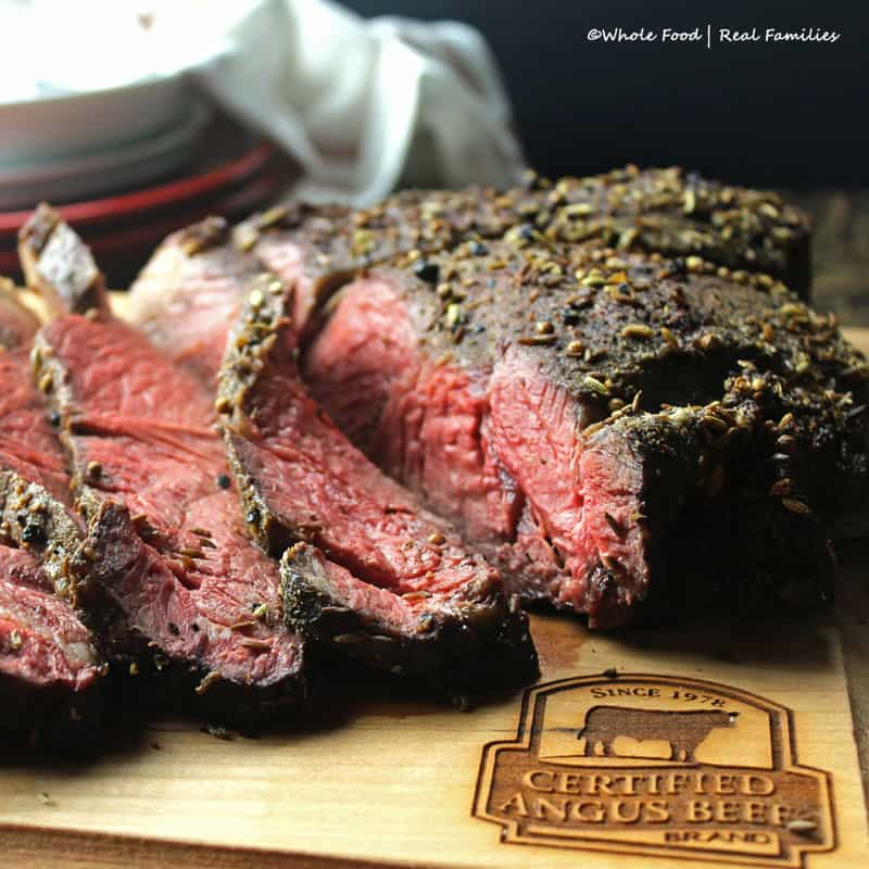 Coriander and Fennel Crusted Top Sirloin Roast