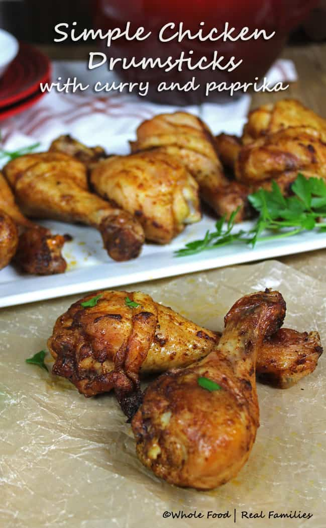Simple Chicken Drumsticks with Curry and Paprika. Perfect for the grill or smoker!