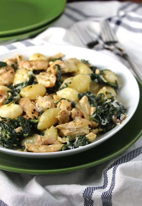 Creamy Chicken and Kale Gnocchi for a quick weeknight meal
