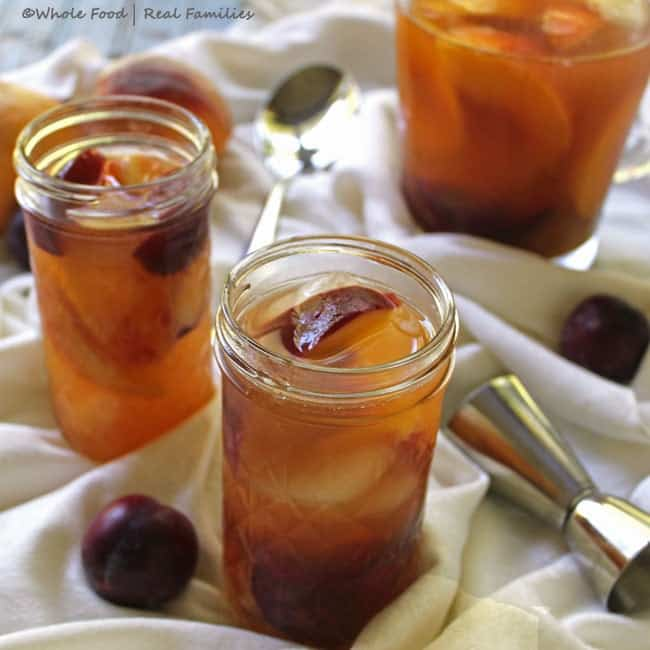 Peach and Plum Brandy Sangria from Whole Food   Real Families