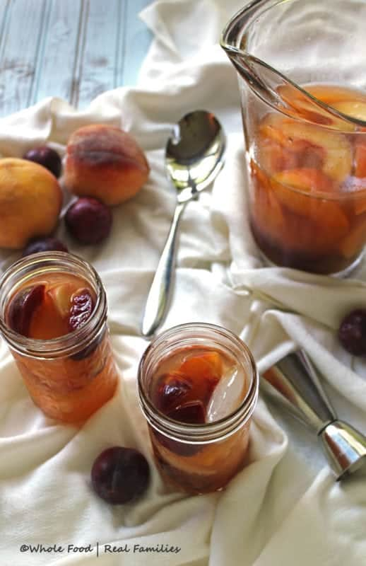 Peach and Plum Brandy Sangria