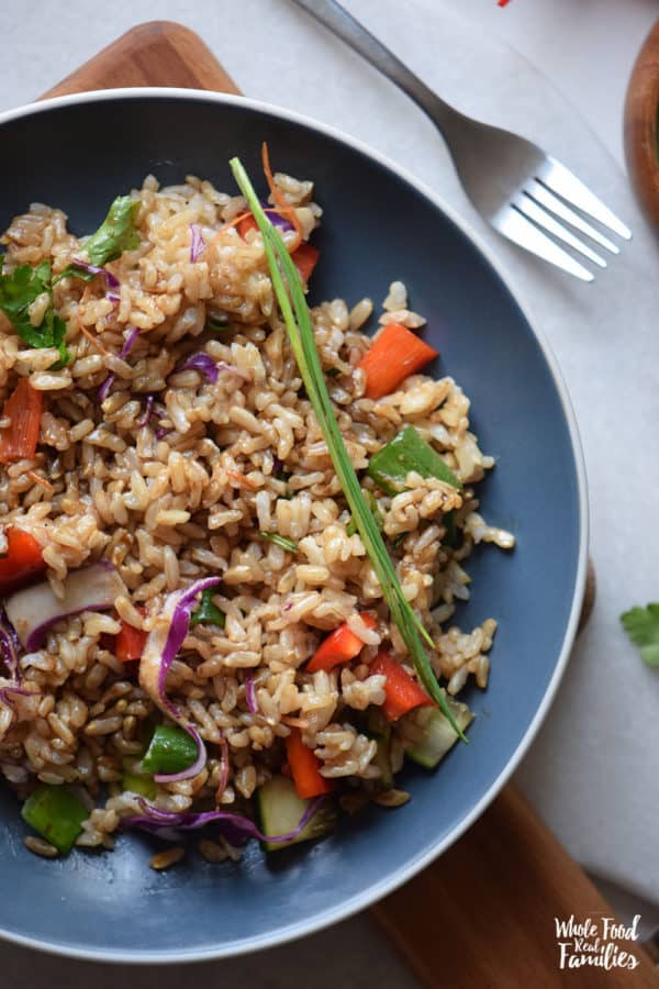 Brown Rice Stir Fry from Whole Food | Real Families.