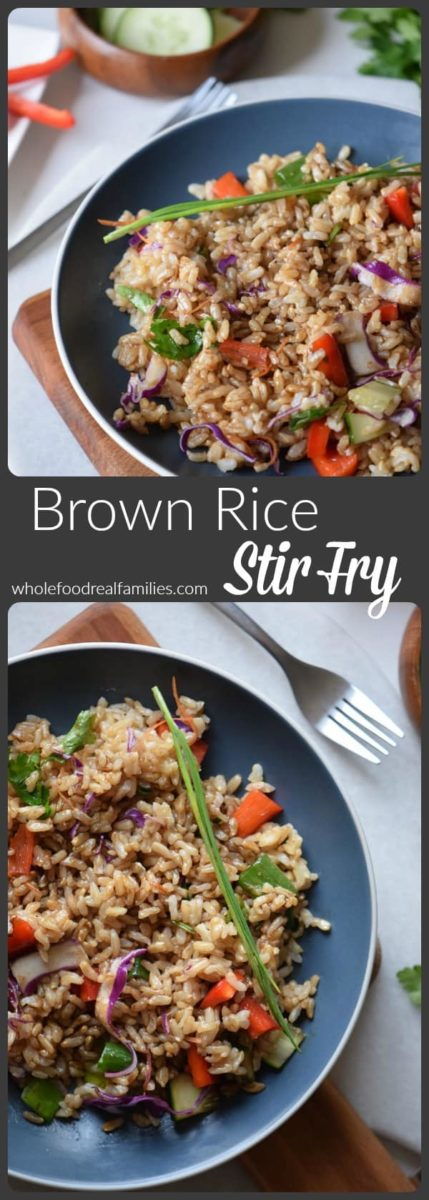 Brown Rice Stir Fry from Whole Food Real Families