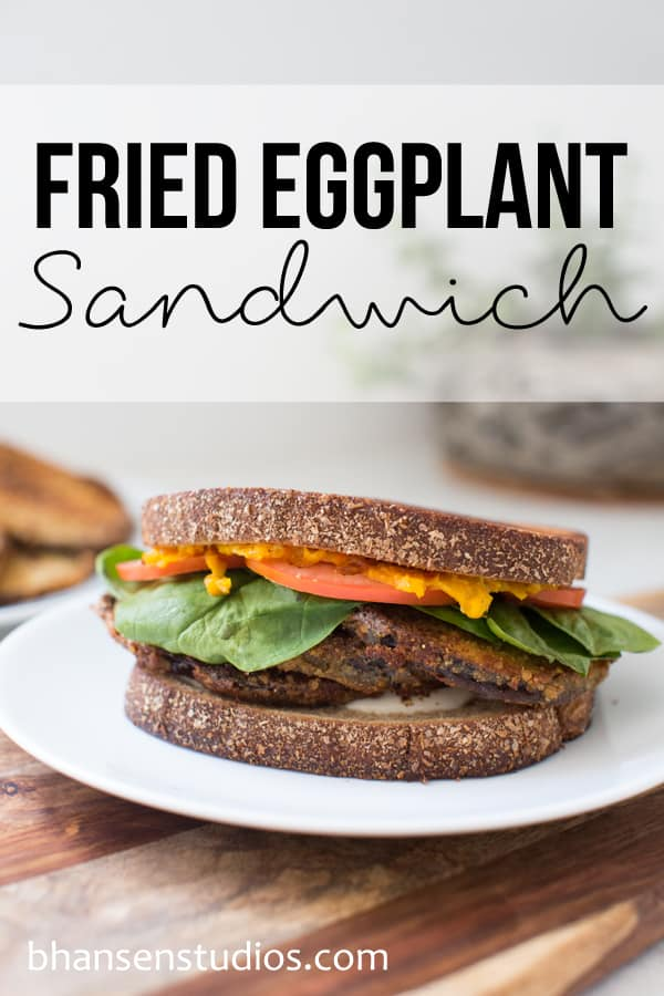 Fried Eggplant Sandwich for National Sandwich Month