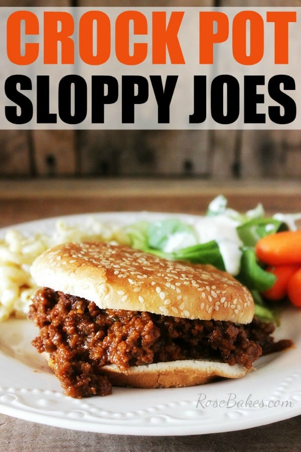 Crock Pot Sloppy Joes for National Sandwich Month