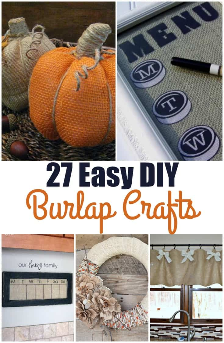 These DIY Easy Burlap Crafts are perfect for me! I really enjoy crafting and creating but am (a) sometimes time challenged and (b) sometimes skill challenged. (Don't laugh. It is not nice!). There is a project in here for everyone! @wholefoodrealfa