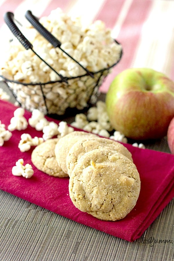 Salted Caramel Apple Popcorn Cookies