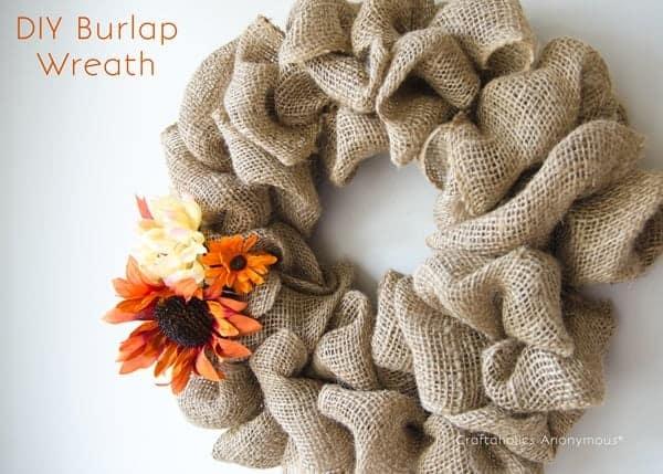 Easy Burlap Craft Wreath
