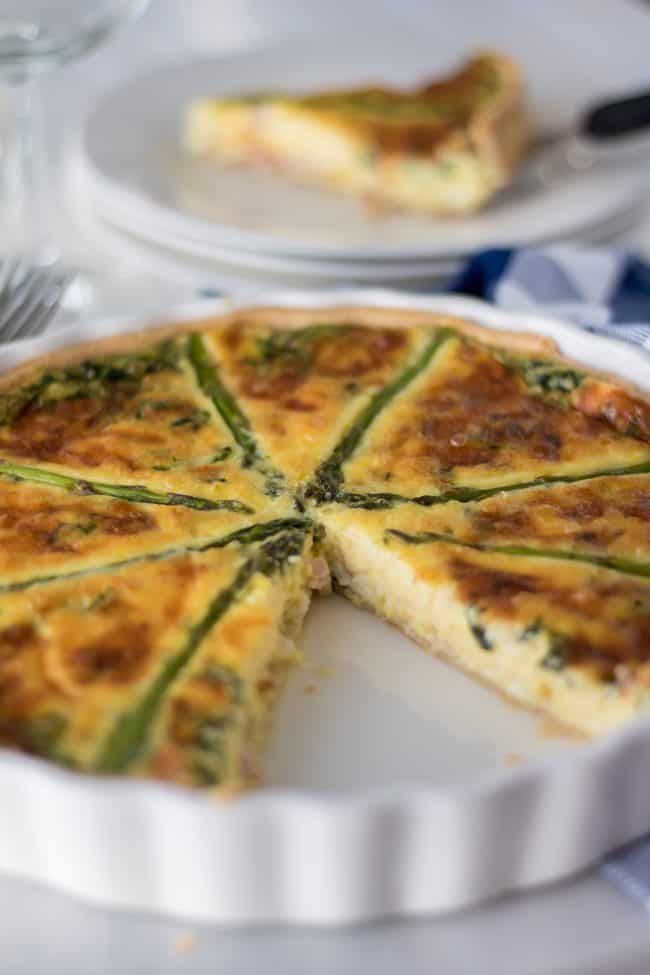Fresh Asparagus Quiche from @wholefoodrealfa
