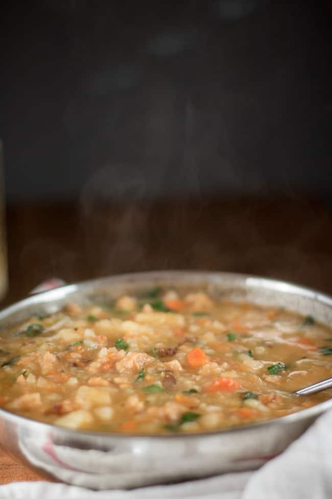 Sausage and Chunky Potato Soup