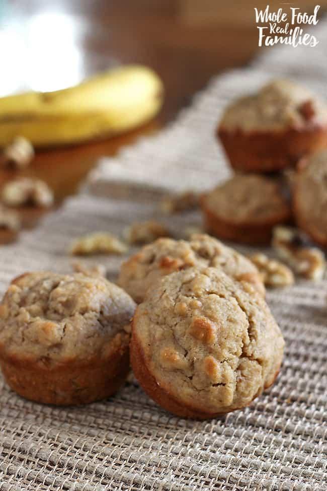 Healthy Banana Muffin Recipe with Walnuts