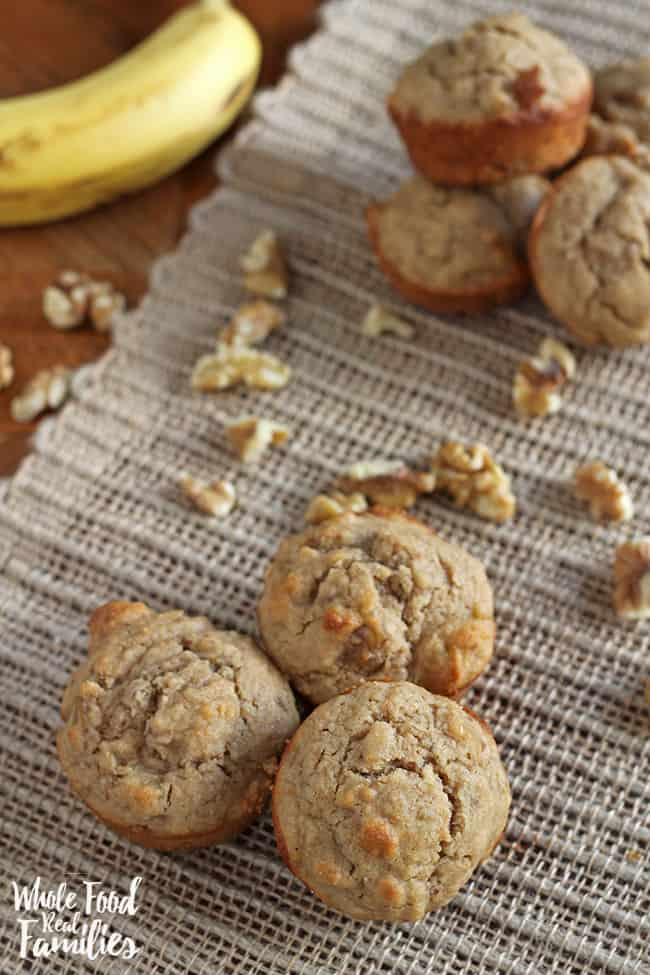 A Healthy Banana Muffin recipe for breakfast, snacks, or a lunchbox treat